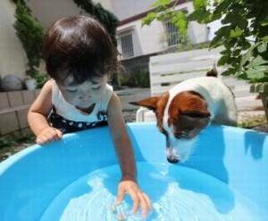 赤ちゃんの水遊びはいつから?注意することは?ビニールプール遊びも